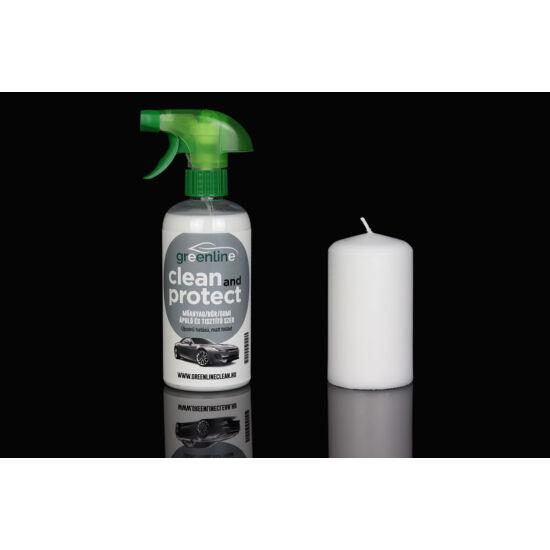 GreenLine Clean and Protect Gumi/műanyag/bőr ápoló, 500 ml